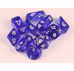 10 piece Hybrid Translucent dice - Blue