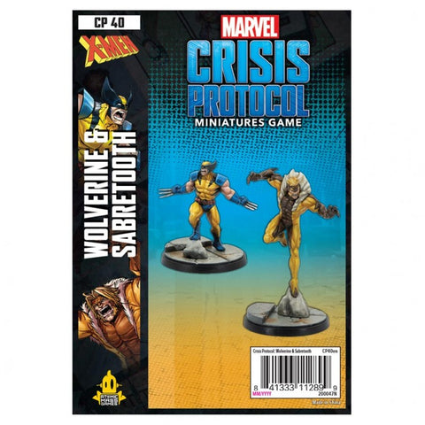 Marvel Crisis Protocol: Wolverine and Sabertooth Pack
