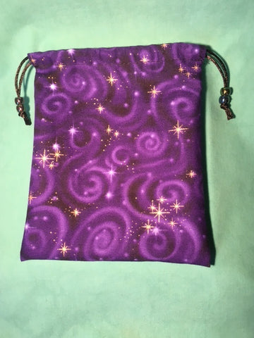 Dice Bag Handmade By Karyn: Star Sparkle Purple