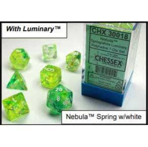 Nebula Spring with white font 10D10 Dice Glow [CHX27355]