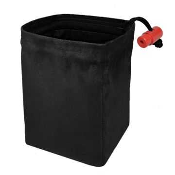 Red King Dice Bag: Classic Black