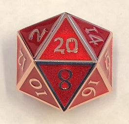 Giant Metal Red Enamel with copper edges + font 35mm D20