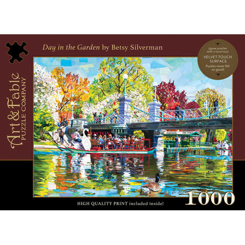 Day in the Garden: 1000-Piece Velvet-Touch Jigsaw Puzzle [With Print]