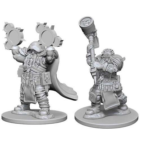 D&D Nolzur Mini: W2 Male Dwarf Cleric [WZK72624]