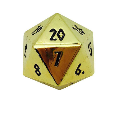 Metal Countdown D20 - Shiny Gold