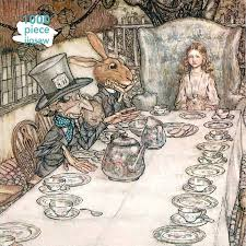 Arthur Rackham: Alice in Wonderland Tea Party: 1000-Piece Jigsaw Puzzles