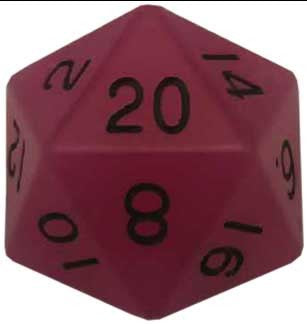 35mm Mega Acrylic 1D20 Glow Purple die