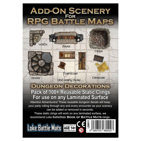 Add-On Scenery for RPG Maps: Dungeon Decorations [LBM011]