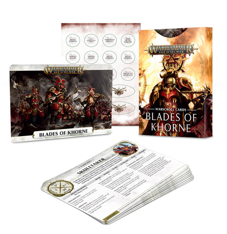 Blades of Khorne Warscroll Cards - Age of Sigmar