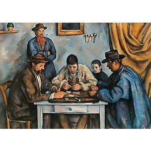 The Card Players: 1000 Piece Jigsaw Puzzle [With Print]