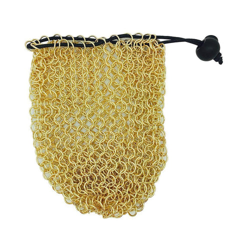Chainmail Dice Bag: Gold