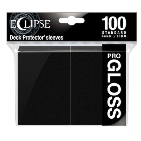 Eclipse Gloss Standard Sleeves: Jet Black