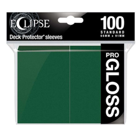 Eclipse Gloss Standard Sleeves: Forest Green