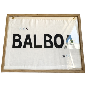 BB - 18 x 24 BALBOA FLAG, Indigo and White - Bird + Belle