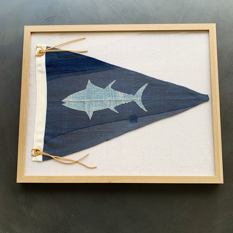 16x20 TONAL BLUEFIN TUNA PENNANT - Bird + Belle