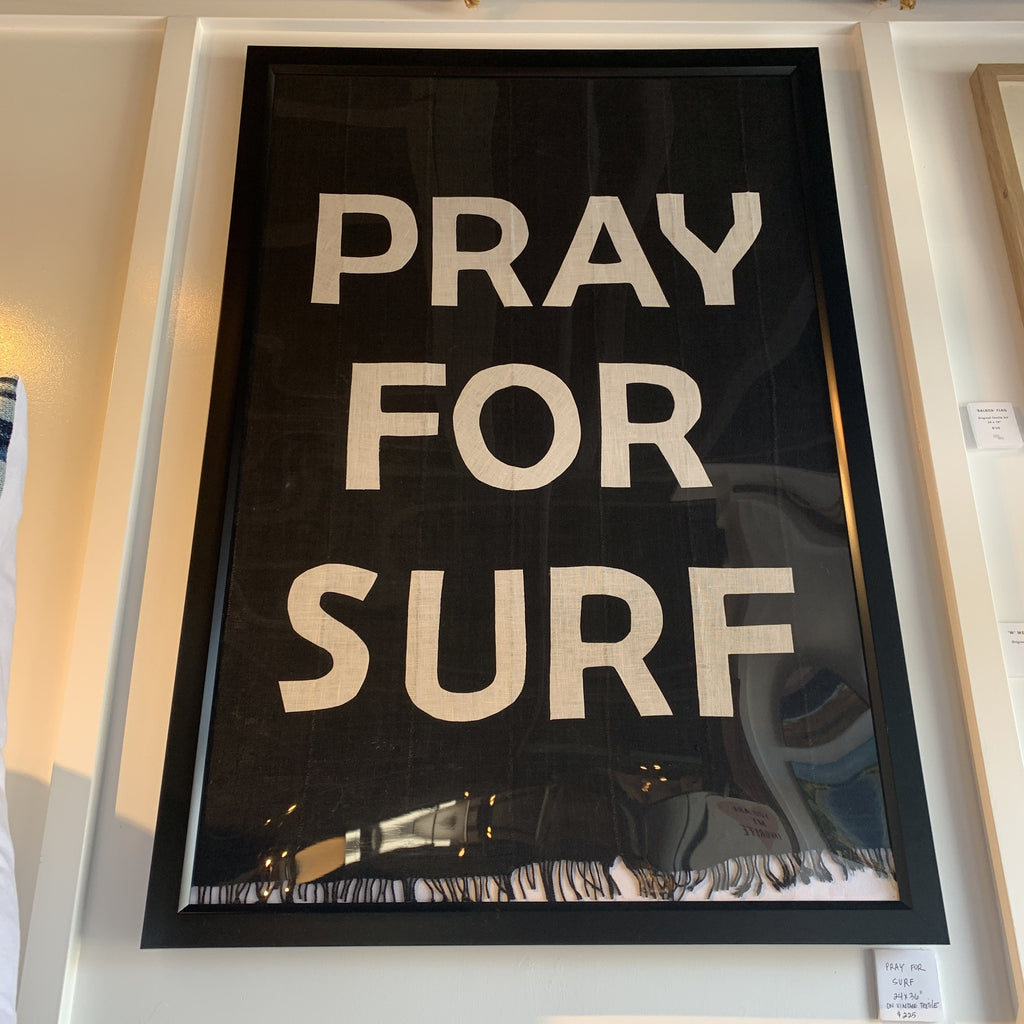 24x36 Custom Pray for Surf Wall Art - Bird + Belle