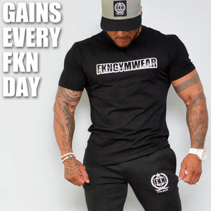 mens-Black-CASH-tshirt-FKN-Gym-Wear-USA