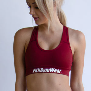 Maroon-crop-front-fkn-gym-wear-usa