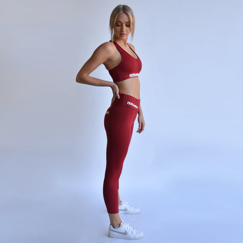 Maroon-crop-set-side-fkn-gym-wear-usa