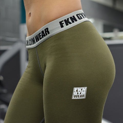 womens-A2G-Khaki-Leggings-FKN-Gym-Wear-USA