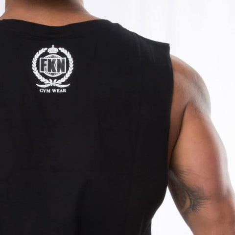 men's-black-fk-cardio-sleeveless-tshirt-FKN-Gym-Wear-USA