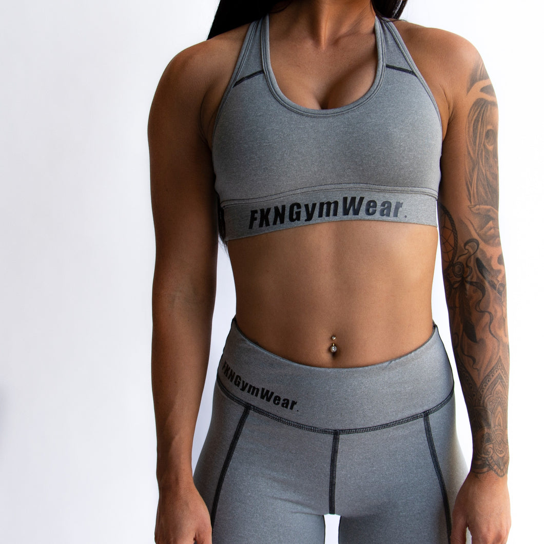 Buy DTF Grey Gym Crop