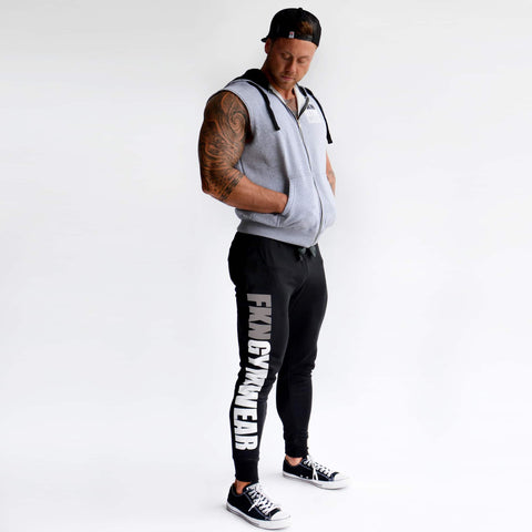 men's-black-LOGO-Track-pants-FKN-Gym-Wear-USA
