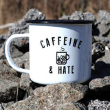 Caffeine and Hate Bullets Tin Mug