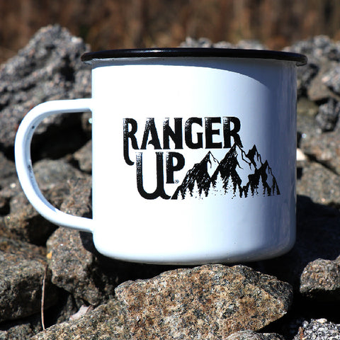 Ranger Up Mountain Tin Mug