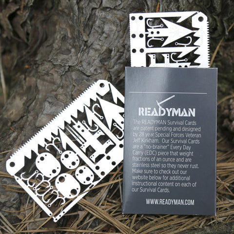 Readyman™ Wilderness Survival Card