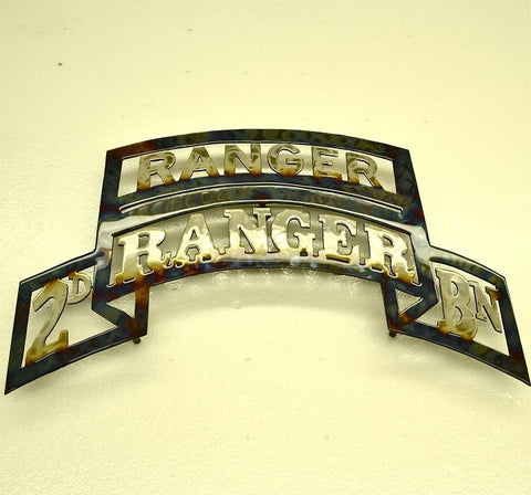 American Liquid Metal - 2/75th Ranger Battalion with Ranger Tab Sign
