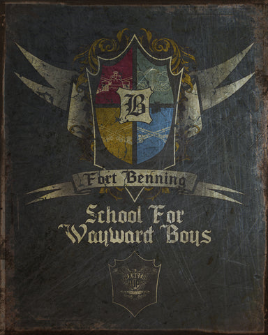 Fort Benning Vintage Tin Sign