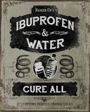 Ibruprofen And Water Vintage Tin Sign
