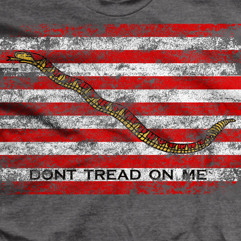 Dont Tread on Me Naval Jack Ultra-Thin Vintage T-Shirt