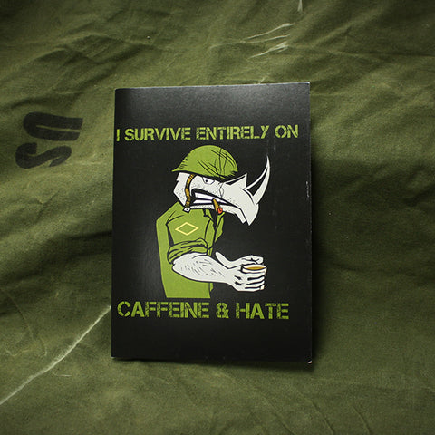 Caffeine And Hate Greeting Card - Ships free!