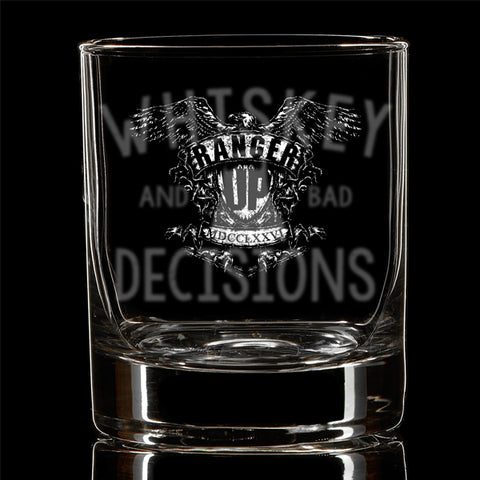 Whiskey and Bad Decisions Glass