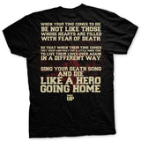 Sing Your Death Song Normal Fit T-shirt