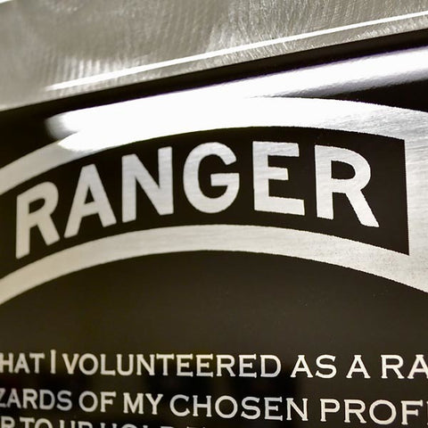 American Liquid Metal - Ranger Creed 75th RGR Sign