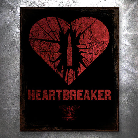 Heartbreak Tin Vintage Tin Sign