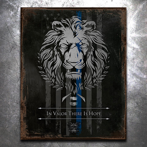 Live as a Lion TBL Vintage Tin Sign