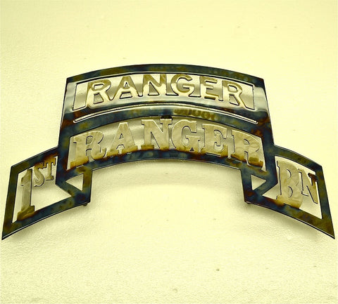 American Liquid Metal - 1/75th Ranger Regiment with Ranger Tab Sign