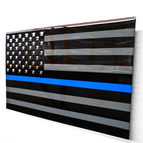 American Liquid Metal - Thin Blue Line Sign