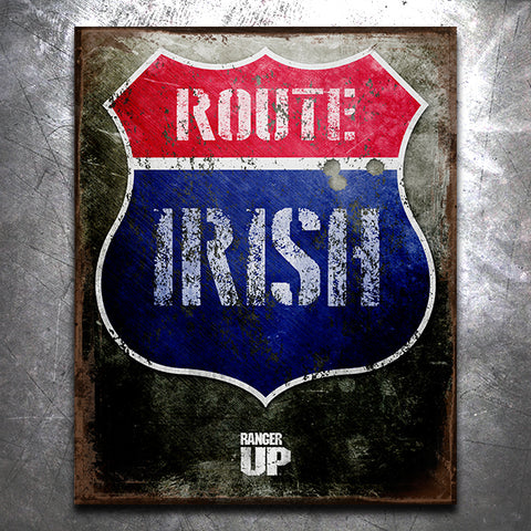Route Irish Old World Vintage Tin Sign