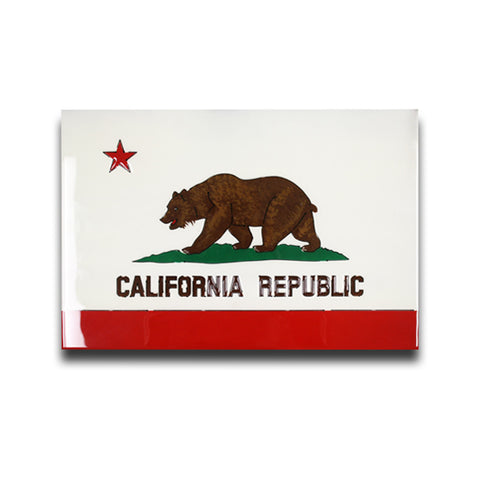 American Liquid Metal - California Flag Sign