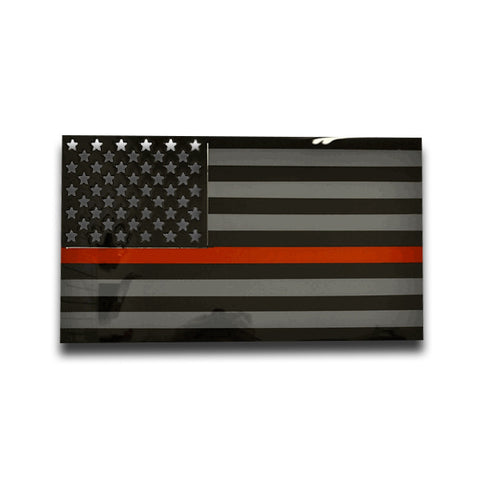 American Liquid Metal - Thin Red Line Sign