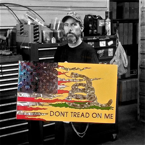 LARGE American Liquid Metal - Gadsden Transformation Sign