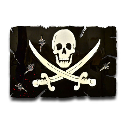 American Liquid Metal - Jolly Roger Pirate Flag Sign