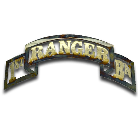 American Liquid Metal - 1/75th Ranger Battalion Scroll Sign