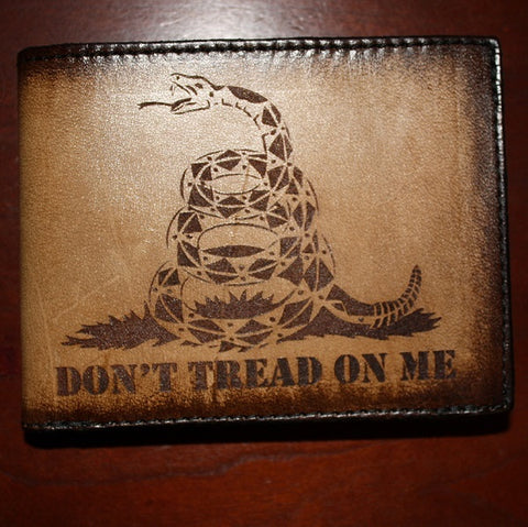 Ranger Up American Made Don't Tread on Me Leather Wallet