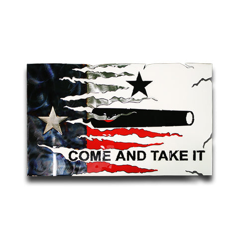 American Liquid Metal Texas Transformation Flag Sign